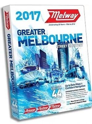 'Reduced'  Melways 2017 Melbourne Street Directory Edition 44 - FREE POSTAGE/NEW