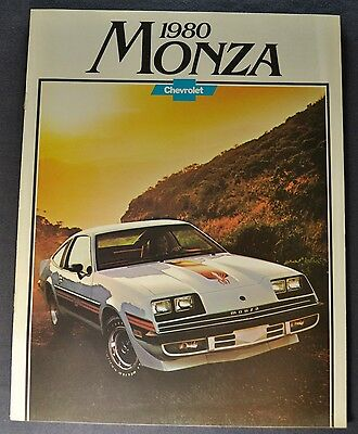 1980 Chevrolet Monza Brochure Spyder 2+2 Coupe Sport Excellent Original 80