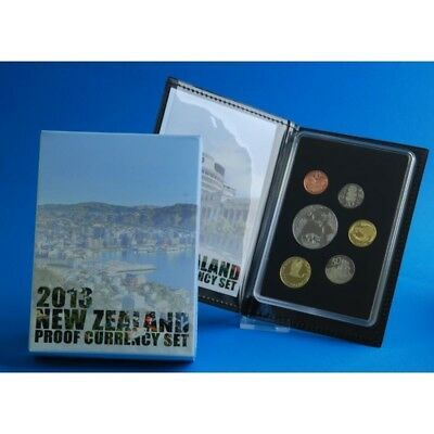 New Zealand 2013 Proof Currency Set with Unc.$5 Short Tailed Bat Theme- SCARCE!!