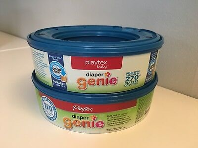 Lot of 2 New Playtex Baby Diaper Genie Refills, Holds up to 270 Diapers