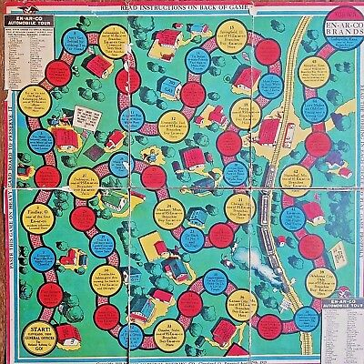 HTF EN-AR-CO Brand Advertising Paper Board Game Memorabilia NATIONAL REFINING CO