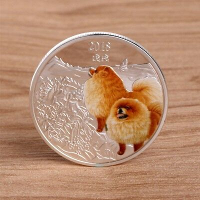Dog New Year Commemorative Coin Gift Souvenir Puppy Collectibles Silvery Craft