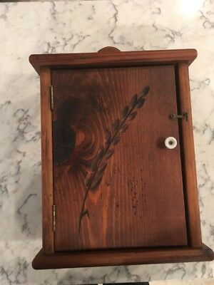 Vintage Habersham Plantation. Wooden Wall Cabinet With Wheat Carving