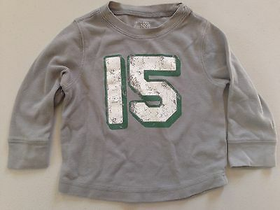 """The Children's Place~18-24M~""""15"""" 15 Shirt Top~Long Sleeve~Cotton~Gray"""