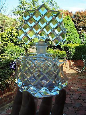 Art Deco Bohemia Czech Crystal Perfume Bottle Batwing Stopper
