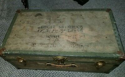 1910 Steamer chest trunk all intact excellent antique condition Traveler