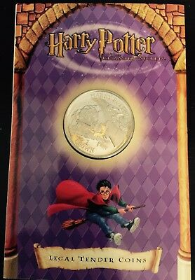 1 One Crown HARRY POTTER Burrow Presentation coin 2002 Isle of Man Birthday GIFT
