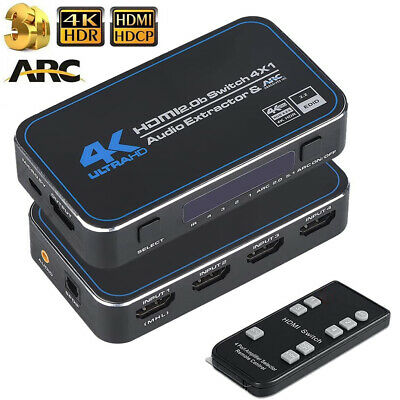 4K HDMI Switcher 5X1 Switch selector box with HDMI audio extractor toslink audio