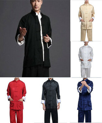 UK Stock New Arrival Handsome Chinese Style Men's Kung Fu Suit Tai Chi Clothing