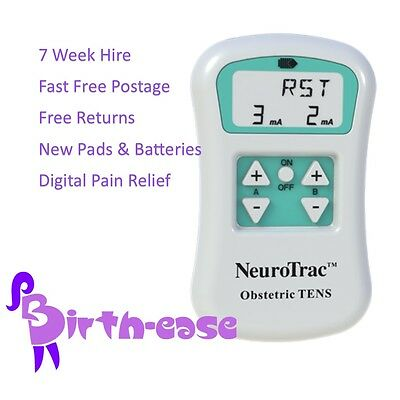 NEUROTRAC TENS - 7 WEEK HIRE  Maternity/Labour Tens machine rent - Free Returns