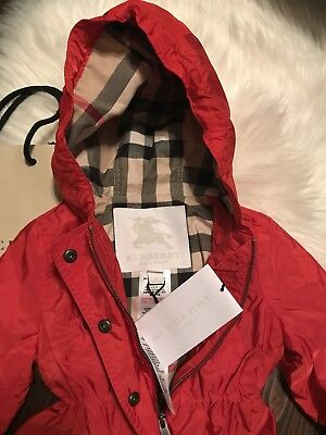 Burberry Unisex Red Coat Size 6m NEW