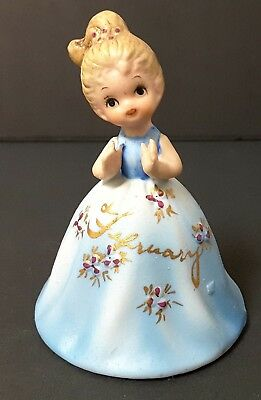 Vintage Collectible  February Ceramic Bell