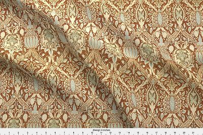 Victorian Arts And Crafts Style Ornate Fabric Printed by Spoonflower BTY
