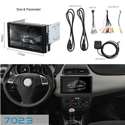 """7"""" 2Din Capacitive Touch Screen Car Video Player GPS Bluetooth WiFi AM FM Radio"""