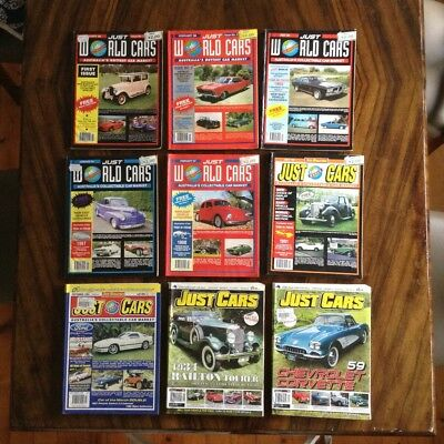 JUST WORLD CARS/JUST CARS Magazines x 9
