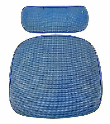 Vintage Toledo Industrial Wood Drafting Stool Chair Seat & Back Rest Covers Blue