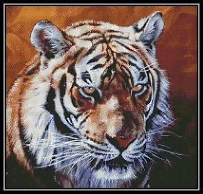 Tiger 2 - Cross Stitch Chart/Pattern/Design/XStitch