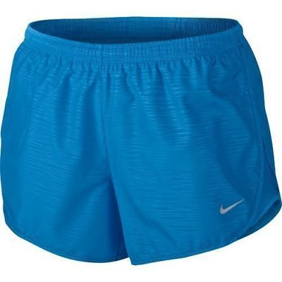 "Nike Womens Dri Fit Dry 3"" Embossed Tempo 2 in 1 Running Shorts  Medium Save 50%"