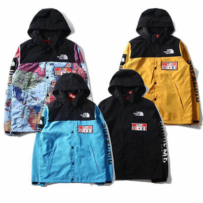 Newest SUPREME Hip Leaves Map Embroidered Sweatshirt Mens Womens Jacket Coat