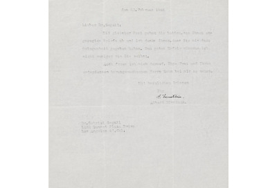 Albert Einstein Typed Letter Signed Autographed PSA DNA Rare