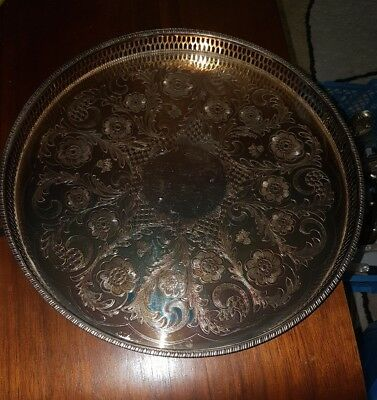 Vintage Alpha Plate Viners Of Sheffield Tray 31Cm