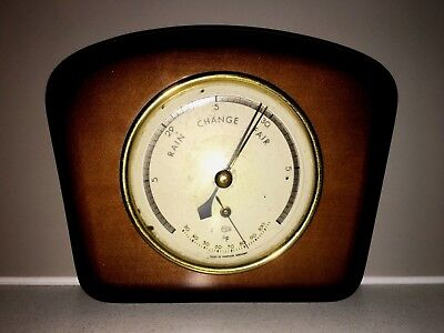 Retro Vintage Timber  Barometer, Thermometer Made In Western Germany