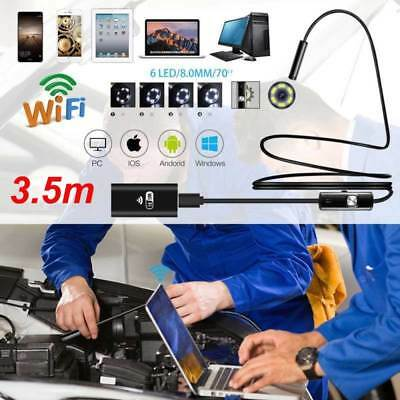 WIFI 8mm Endoscope Borescope Snake Inspection Camera Scope for Android iPhone