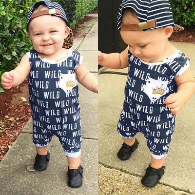 Infant Baby Boy Girl Newborn Bodysuit Romper Jumpsuit Sunsuit Outfits Clothes AU