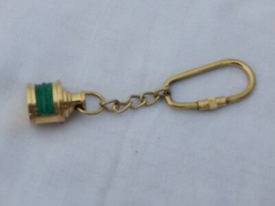 Sold Brass Mine Lamp Key ring Hoop Key Pendant Nautical Green Lamp Key Ring Gift
