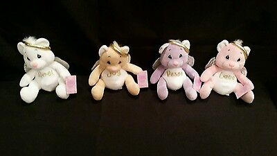 Precious Moments Tender Tails Angel Bears 4pc set