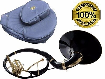 """New Year Sale Sousaphone Painted Black 21"""" Bell Bb 3V BAG n MOUTH PIECE"""