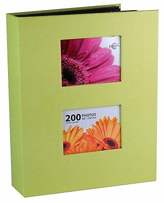 NEW! Photo Album 200 Pockets Green 4 x 6 Inch Pictures Kiera Grace FREE SHIPPING