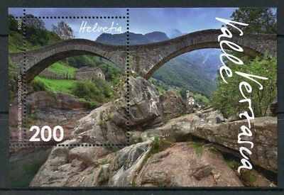 Switzerland 2016 MNH Valle Verzasca Swiss Countryside 1v M/S Bridges Stamps