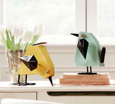 Cute Bird Home Decoration Retro Wooden Bird Ornament Christmas Gift Child Toy