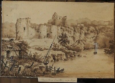 Master Drawing of Chepstow Castle on the Wye 19th C.