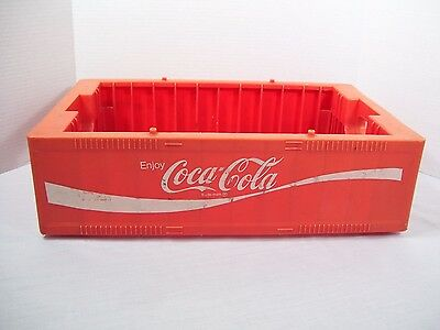 Coca-cola Coke Crate Carrier Caddy Soda Plastic Stackable Vintage Decor Garden