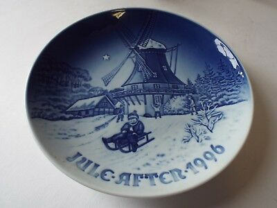 Royal Copenhagen Christmas Plate 1996 Winter at the Old Mill B&G