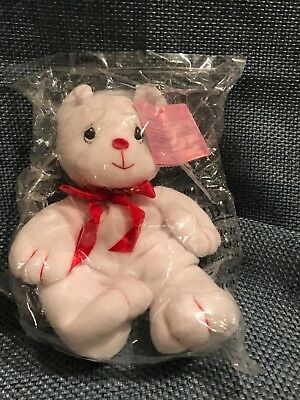 "NWT Precious Moments Tender Tails White Bear 6"" Stuffed Toy Mint in Original"