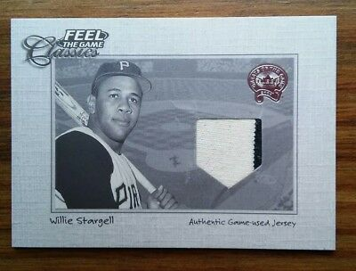 Willie Stargell 2001 Fleer Feel The Game Classics Authentic Game Used Jersey