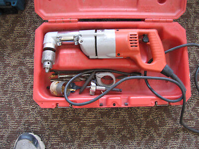 """Milwaukee Heavy Duty 1/2"""" Right Angle Drill, Model: 1107 with Case"""