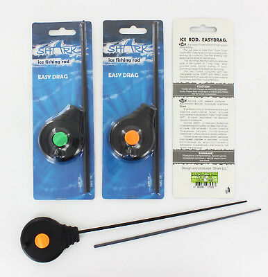 ICE Fishing ROD from SHARK-Easy Drag! for winter fishing, two changeable nozzle!