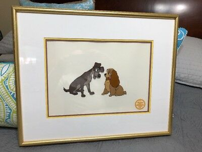 Walt Disney Co Lady and The Tramp Limited Edition Serigraph Cel Framed