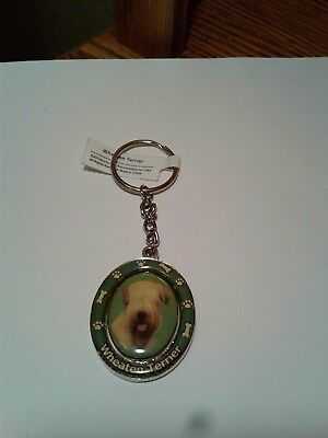 Wheaton Terrier Metal Soft-Coated Spinning Keychain -New!