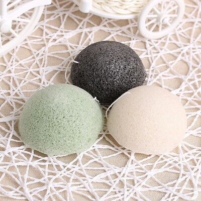 Fast Ship Natural Konjac Sponge Cleansing Cotton Bamboo Charcoal Cleaning Flap