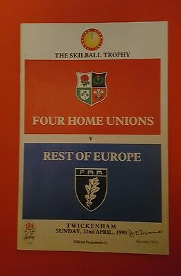 Four home unions v rest of Europe 1990 rugby union programme