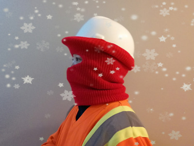 Winter Cold Weather Balaclava Liner Hood for Hard Hat Helmet Safety Workwear