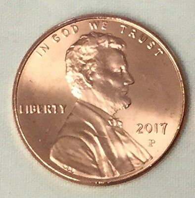 2017 P Lincoln Shield Cent Bu Unc From Bank Roll