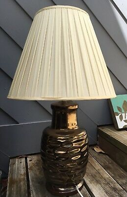 Large Retro Lamp Ceramic Base & Shade Total Height 76cm