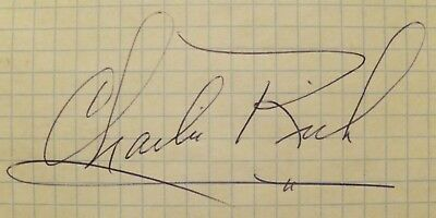 Legend of Country Music: Charlie Rich signed autograph (original signature)