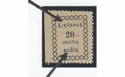 LITHUANIA. 1918 (31 Dec). Second Vilnius Issue. Position No. 6
